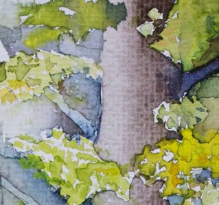 Detail aus dem Aquarell - Herbstanfang