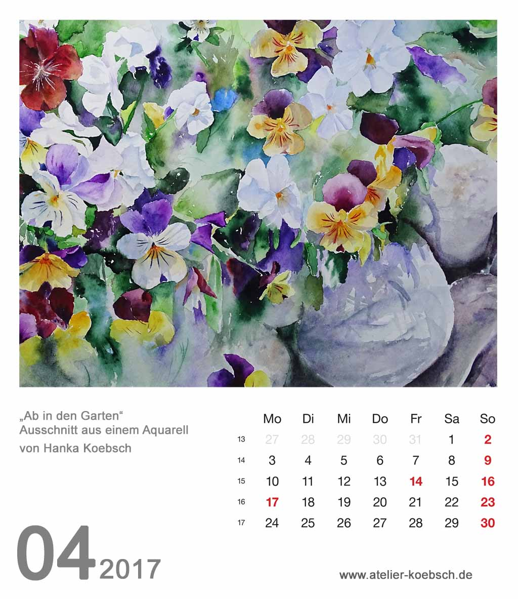 Kalenderblatt April 2017