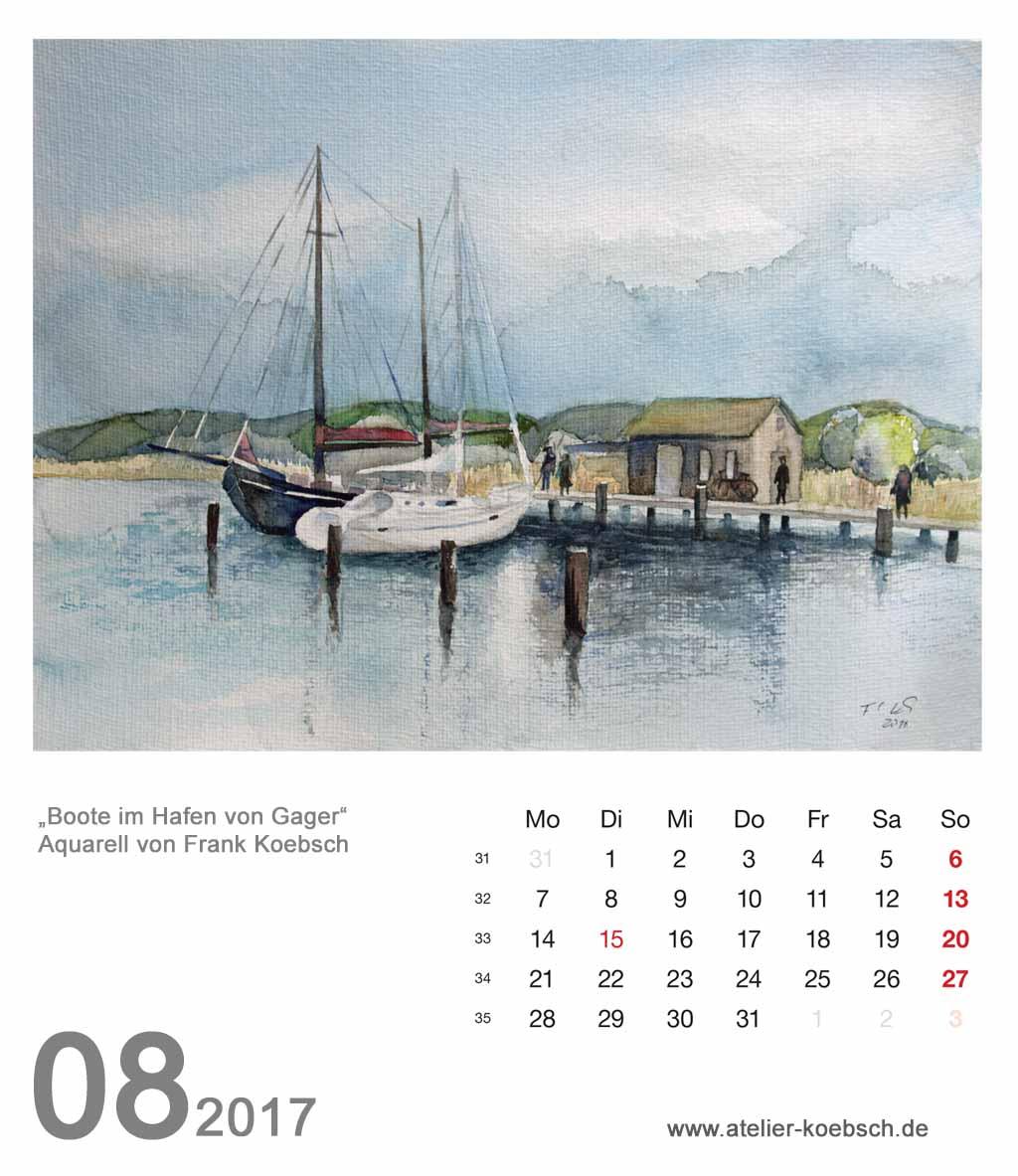 Kalenderblatt August 2017