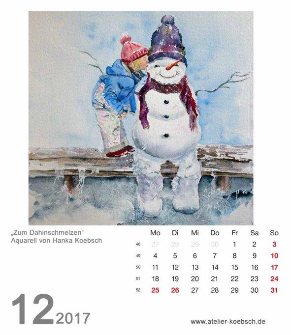 Kalenderblatt Dezember 2017