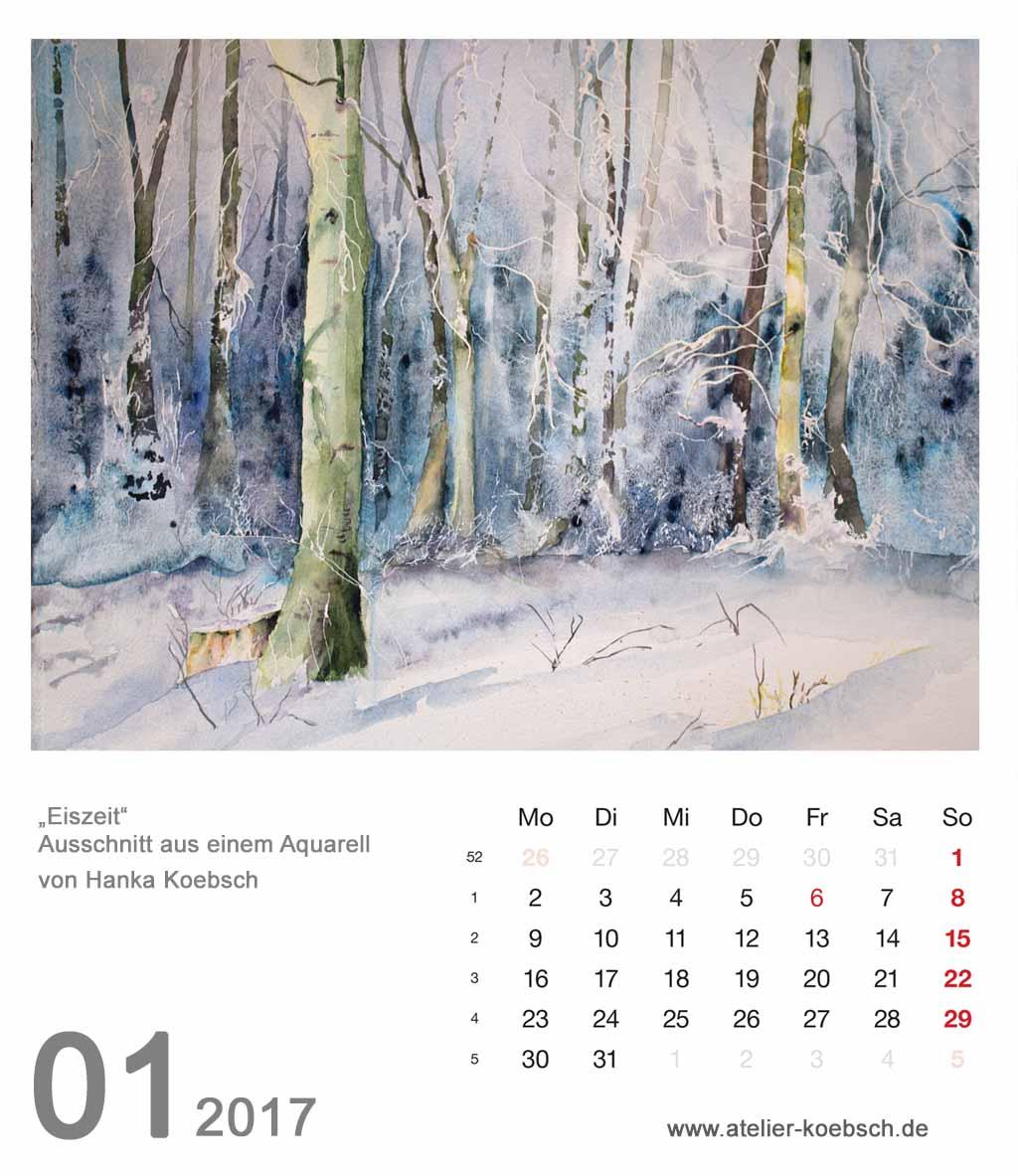 Kalenderblatt Januar 2017
