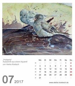 Kalenderblatt Juli 2017