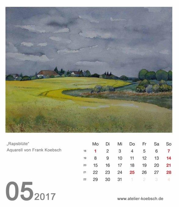 Kalenderblatt Mai 2017