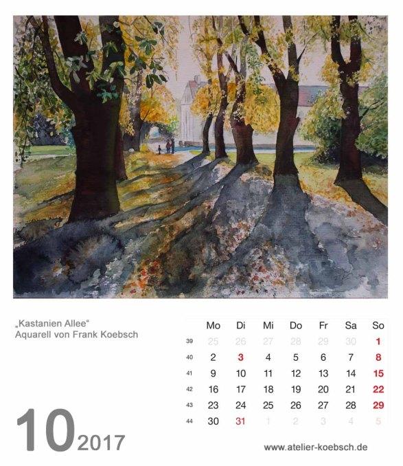 Kalenderblatt Oktober 2017