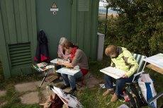 Malen am Leuchtturm von Bastorf (c) Frank Koebsch - September 2015 (1)