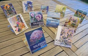 Unsere Kalender mit Aquarellen und Pastellen von 2007 - 2017 (c) Frank Koebsch