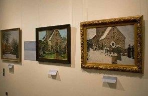 Bilder von Rudolf Bartels aus der Serie – Kirche von Gelmeroda – im Kulturhistorischen Museum Rostock © Frank Koebsch (2)
