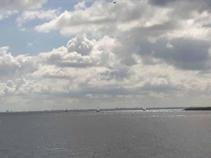 Blick über den Öresund von Kopenhagen nach Malmö (c) Frank Koebsch