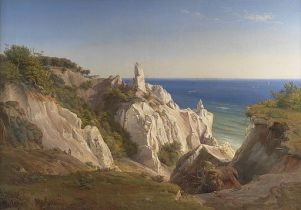 Møns Klint or The Cliffs of the Island of Møn – von Louis Gurlitt - Public domain