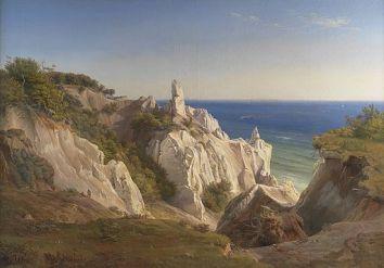 Møns Klint or The Cliffs of the Island of Møn – von Louis Gurlitt - Public domain