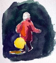 Farbstudie für ein Laternenkind (c) FRank Koebsch