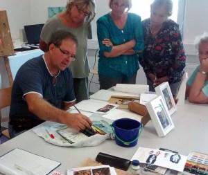 Schnappschüsse aus dem Aquarellkurs Laternenkinder (c) Bernd Sturzrehm (1)