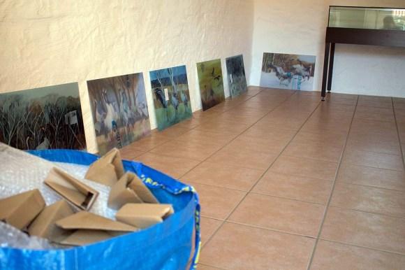 Vorbereitungen der Ausstellung Faszination Kraniche im Natureum am Darßer Ort (c) FRank Koebsch (1)