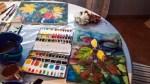 Malen von buntem Herbstlaub Aquarellen (c) FRank Koebsch (4)