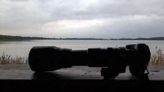 meine Kamera als Skizzenblock - beim Warten auf die Kraniche am Rederang See (c) FRank Koebsch.