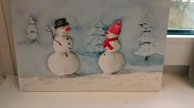 Lustige Schneemannbilder aus dem Aquarellkurs Weihnachtsaquarelle (c) Bernd Sturzrehm (4)