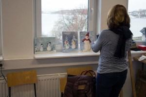 Schnappschuss aus dem Aquarellkurs Weihnachtsaquarelle an der VHS Rostock (c) Frank Koebsch (4)