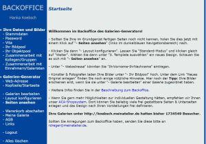 Abschied von unserer Web Seite Koebsch meinatelier de.