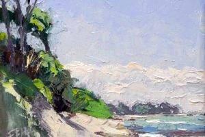 Thomas Freund, Weststrand von Prerow, 20 x 20 cm, Öl auf Leinwand