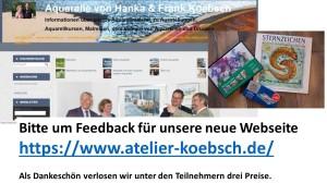 Bitte um Feedback zu unserer Web Seite www.koebsch-atelier.de