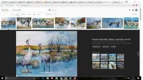 """Ergebnis der """"neuen"""" Google Bildersuche für den Such Begriff Kranich Aquarelle"""