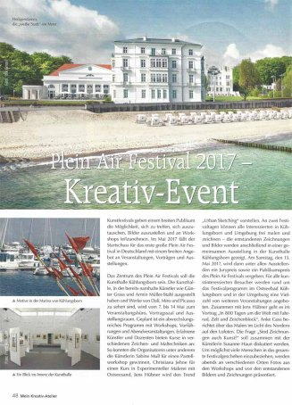 Plein Air Festival 2017 - Kreativ - Event - Mein Kreativ Atelier 2016 Nr 87 S 48