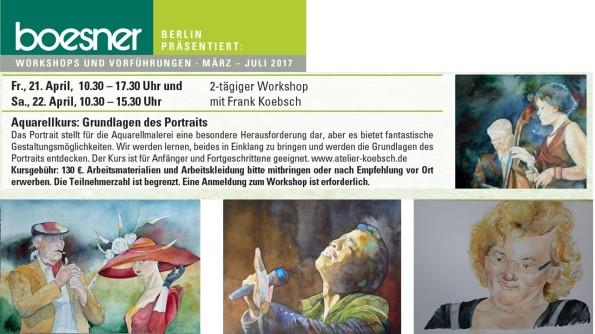 Aquarellkurs - Grundlagen des Portraits bei Boesner Berlin