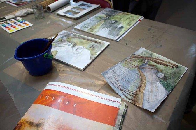 Aquarelle aus dem Workshop in Schwaan (c) FRank Koebsch (1)