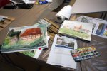 Aquarelle aus dem Workshop in Schwaan (c) FRank Koebsch (2)