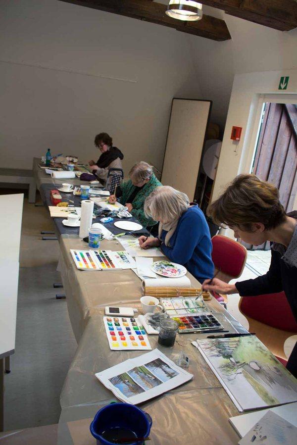 Malen im Atelier des Kunstmuseums Schwaan (c) FRank Koebsch (3)