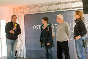 Frank Koebsch, Susanne Mull, Thomas Freund und Anke Gruss bei der Eröffnung des Plein Air Festivalls in Kühlungsborn (c) Sonja Jannichsen