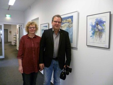 Hanka und Frank Koebsch in der Ausstellung Wildes Land im Staatliches Amt für Landwirtschaft und Umwelt (c) Anke Streichert