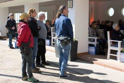 Ivan Prado, Anke Gruss, Thomas Freund und Jes Hübner bei der Eröffnung des Plein Air Festival in Kühlungsborn (c) Sonja Jannichsen