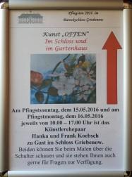 Kunst Offen im Schloss Griebenow mit Hanka und Frank Koebsch (c) Frank Koebsch