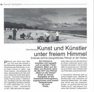 Kunst und Künstler unter freiem Himmel - Dörte Rahming - atelier 2016 12 S 32