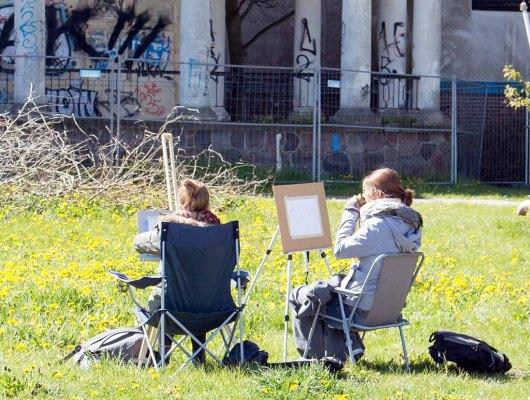 Plein Air Malerei an der Vila Baltic Kühlungsborn (c) FRank Koebsch (1)