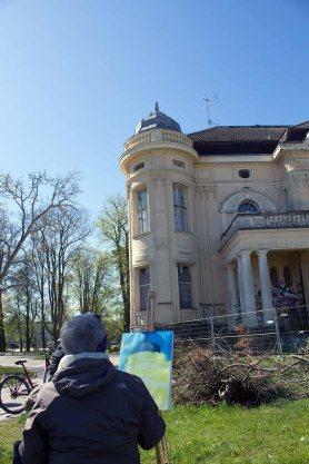 Plein Air Malerei an der Vila Baltic Kühlungsborn (c) FRank Koebsch (4)