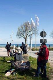 Plein Air Malerei an der Vila Baltic Kühlungsborn (c) FRank Koebsch (7)