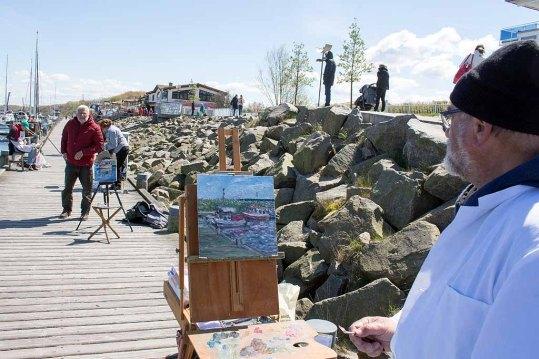 Plein Air Malerei im Hafen von Kühlungsborn (c) FRank Koebsch (3)