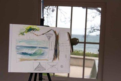 Workshop Acrylmalerei im Konzertkarten Ost während des Plein Air Festivals in Kühlungsborn (c) FRank Koebsch (1)