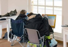 Workshop Acrylmalerei im Konzertkarten Ost während des Plein Air Festivals in Kühlungsborn (c) FRank Koebsch (4)