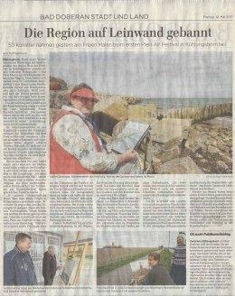 50 Künstler beim Freien Malen des Plein Air Festival - Ostsee Zeitung 2017 05 12