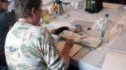 Bei Regen malten die Aquarellisten im Hafenhaus Kühlungsborn (c) FRank Koebsch (1 (1)
