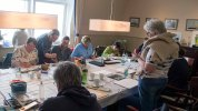 Bei Regen malten die Aquarellisten im Hafenhaus Kühlungsborn (c) FRank Koebsch (2)