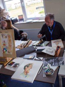 Bei Regen malten die Karikaturisten im Hafenhaus Kühlungsborn (c) FRank Koebsch (1Bei Regen malten die Karikaturisten im Hafenhaus Kühlungsborn (c) FRank Koebsch (1Bei Regen malten die Karikaturisten im Hafenhaus Kühlungsborn (c) FRank Koebsch (1)