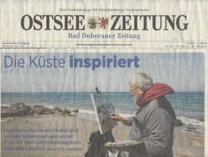 Die Küste inspiriert - Die Ostsee Zeitung berichtet über das Freie Malen beim Plein Air Festival 2017 05 12