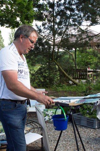 Frank Koebsch malt bei Kunst Offen in der Alten Büdnerei Kühlungsborn (c) Kristin Schröter (4)