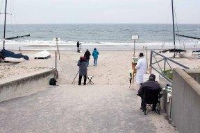 Freies Malen am Strand von Kühlungsborn im Rahmen des Plein Air Festivals (c) FRank Koebach (1)