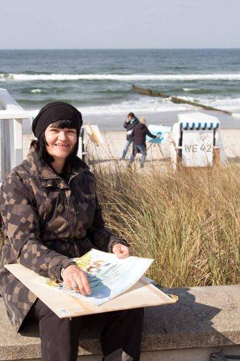 Freies Malen am Strand von Kühlungsborn im Rahmen des Plein Air Festivals (c) FRank Koebach (11)