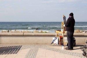 Freies Malen am Strand von Kühlungsborn im Rahmen des Plein Air Festivals (c) FRank Koebach (12)